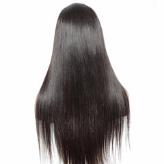 LETMESHINE 360 WIG STRAIGHT #1B NATURAL COLOR GLUELESS 100% HUMAN HAIR WIG - LetMeShine Hair