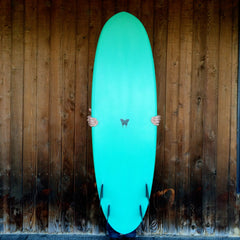 Double Ender Surfboard Moss Green  - Driftwood Caravan Surfboards