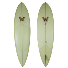 Single Fin Pin Tail Surfboard - Driftwood Caravan Surfboards