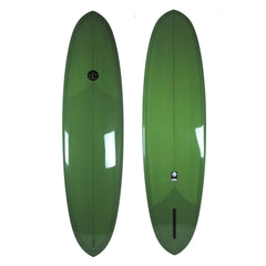 Double Ender Surfboard Green  - Driftwood Caravan Surfboards