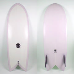 Fish Surfboard With Twin Keels - Driftwood Caravan Surfboards