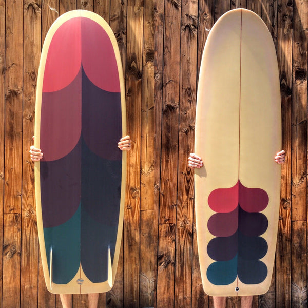 5'10 Mini Simmons - Driftwood Caravan x Surfing With Friends - Driftwood Caravan Surfboards - 2