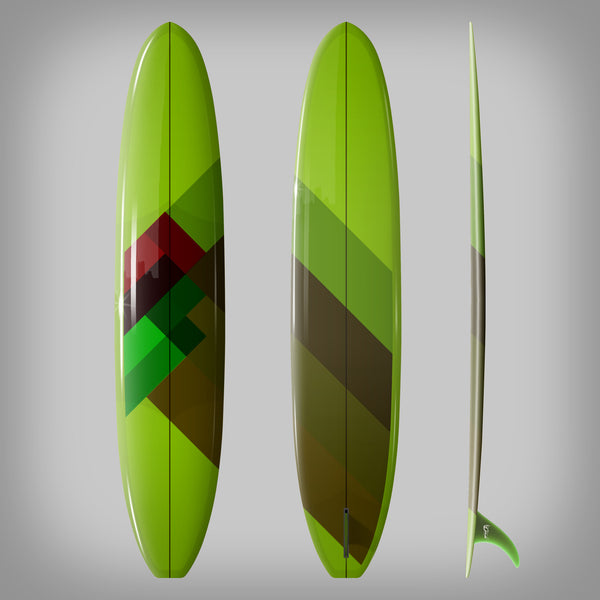 Custom Order Longboard 9'6 DC SAM - Driftwood Caravan x Surfing With Friends - Driftwood Caravan Surfboards