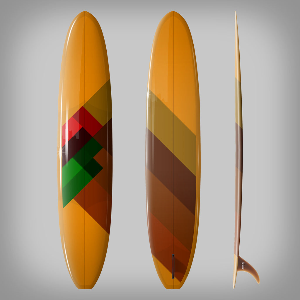 Custom Order Longboard 9'6 DC SAM - Driftwood Caravan x Surfing With Friends - Driftwood Caravan Surfboards - 1