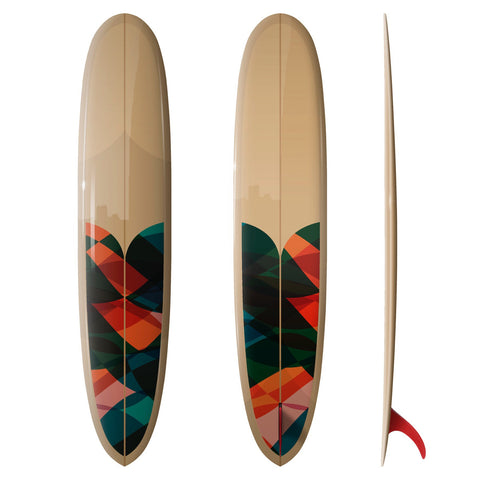 Custom Order Longboard DC Valiant Pin Tail Noserider - Driftwood Caravan X Surfing With Friends - Driftwood Caravan Surfboards