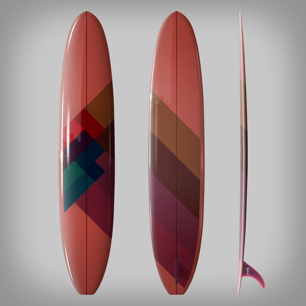 Custom Order Longboard 9'6 DC SAM - Driftwood Caravan x Surfing With Friends - Driftwood Caravan Surfboards - 3