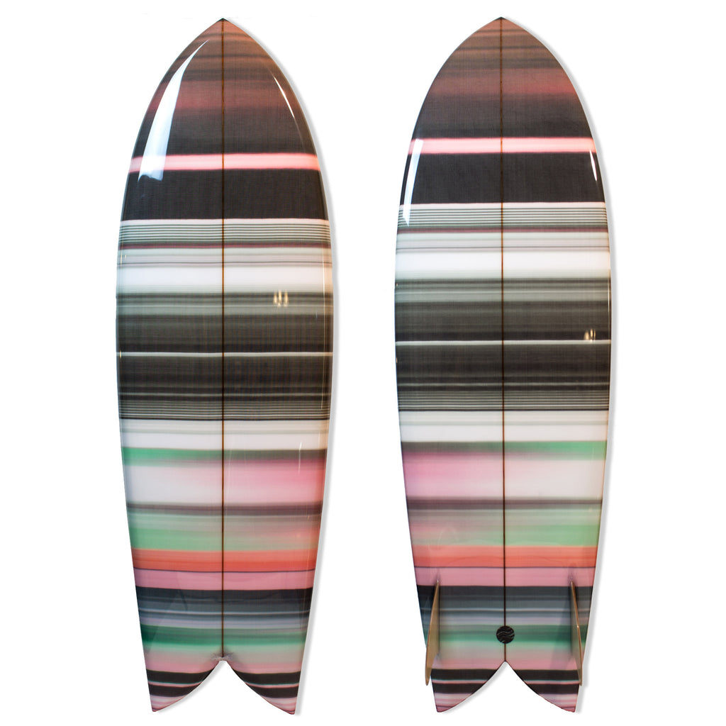 "5'10 Chivo Keel Fish ""Green Chromatic"" - Driftwood Caravan x Surfing With Friends - Driftwood Caravan Surfboards"