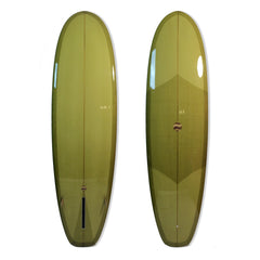 Displacement Hull Avocado Green - Driftwood Caravan Surfboards