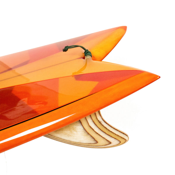 "Custom Order Fish Surfboard Chivo Keel ""Amber Glass"" - Driftwood Caravan x Surfing With Friends - Driftwood Caravan Surfboards - 5"