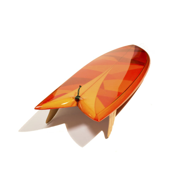 "Custom Order Fish Surfboard Chivo Keel ""Amber Glass"" - Driftwood Caravan x Surfing With Friends - Driftwood Caravan Surfboards - 3"