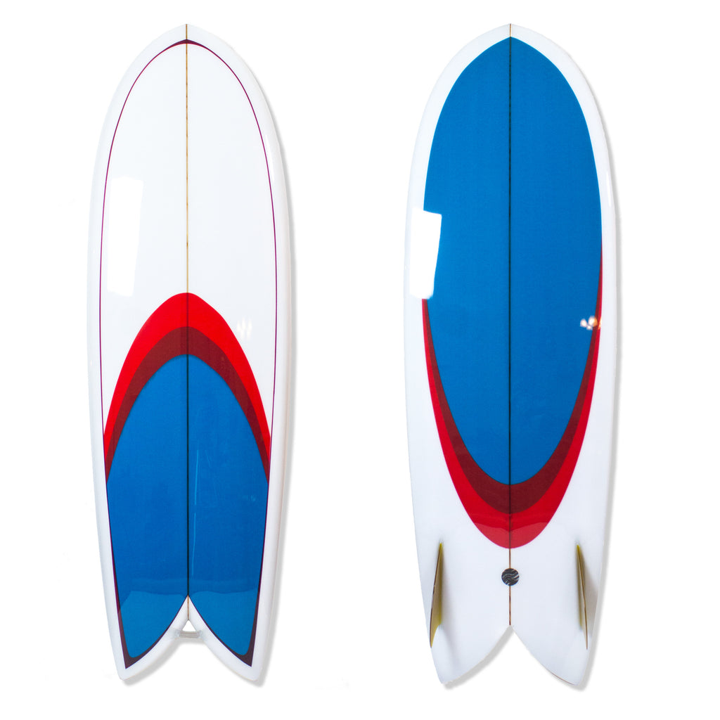"Custom Order Surfboard Shim-Fish ""Crystal Voyager""- Surfing With Friends - Driftwood Caravan Surfboards"
