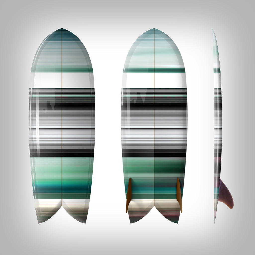 "Custom Order Fish Surfboard Shim-Fish ""Green Chromatic""-  Surfing With Friends - Driftwood Caravan Surfboards"