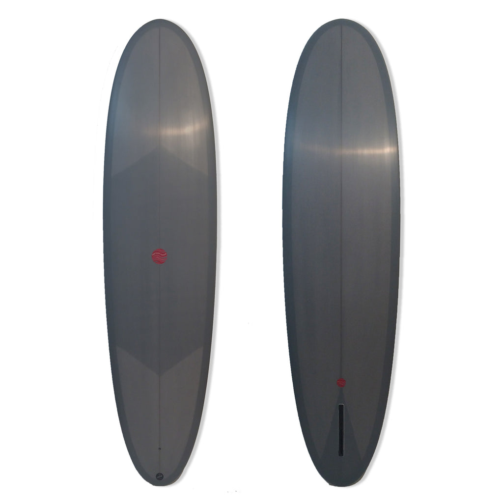7'6 Dirty Blade Displacement Hull with Grey Resin Tint Sanded Gloss Finish - Driftwood Caravan - Driftwood Caravan Surfboards