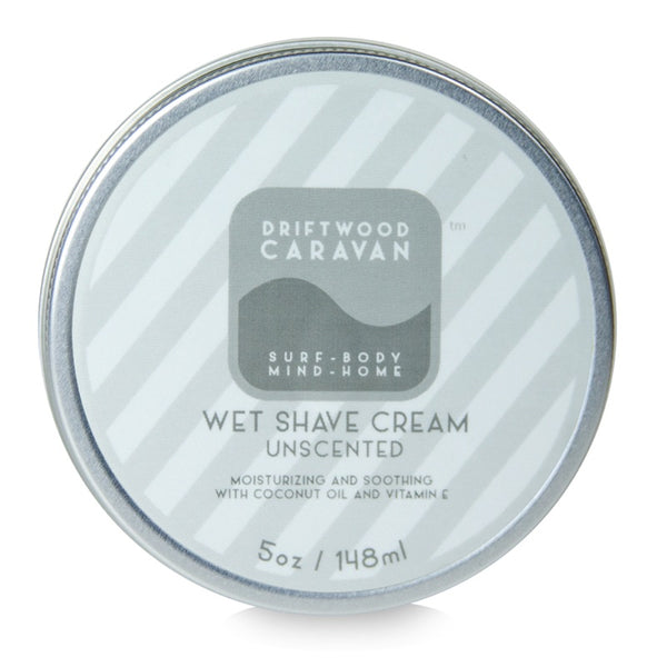 Wet Shave Cream 5oz Unscented - Driftwood Caravan Body - Driftwood Caravan Surfboards