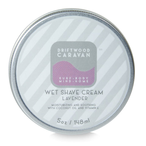 Wet Shave Cream 5oz Lavender - Driftwood Caravan Body