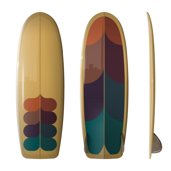 Driftwood Caravan x Surfing With Friends 5'6 SIM - Custom Order - Driftwood Caravan Surfboards - 3