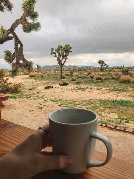 Slow down and enjoy your coffee - in Joshua Tree