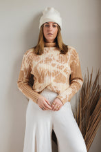 Load image into Gallery viewer, Pecan Bleached Turtleneck - L