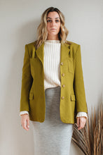 Load image into Gallery viewer, Chartreuse Wool Blazer