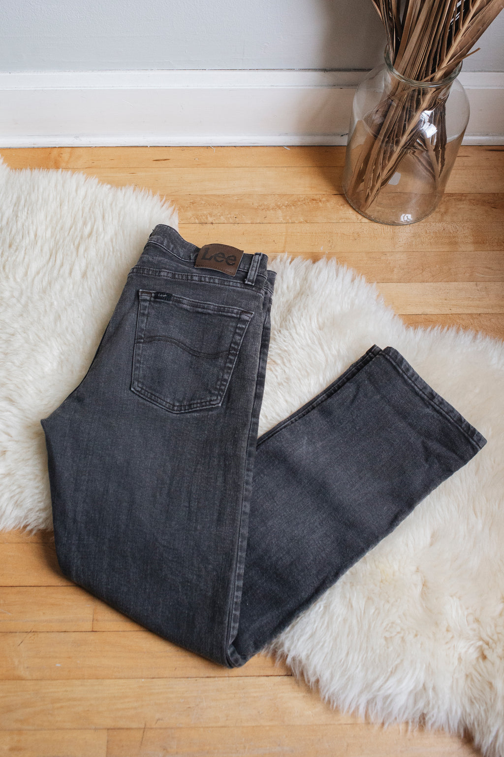 "Vintage Faded Grey Lees - 32"" Waist"