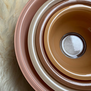 Vintage PYREX Terra-Cotta Bowl Set