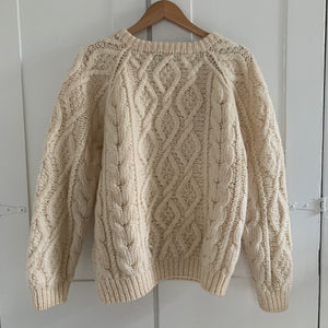 Vintage cream Knit Sweater - L