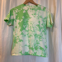 Load image into Gallery viewer, Lime Green Reverse Dye Tee - S