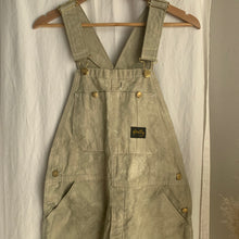 "Load image into Gallery viewer, Hand Dye Stan Ray Overalls ""Olive"" - M"