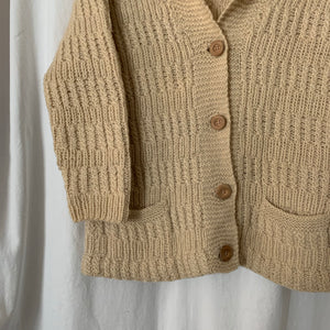 Vintage Knit Cardigan - size Small