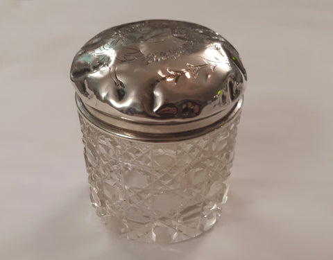 Sterling Silver and Crystal jar