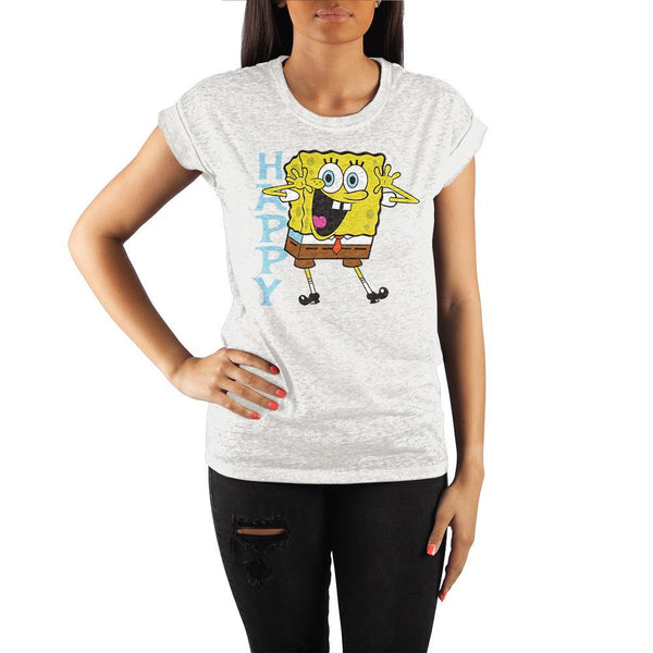 SpongeBob SquarePants Rolled Sleeve Women's T-Shirt