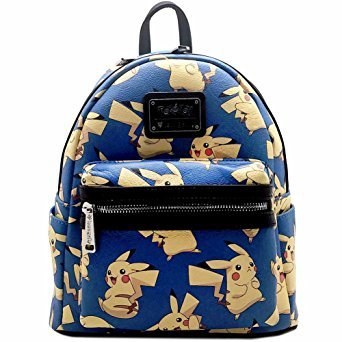 Loungefly X Pokemon PIKACHU AOP Mini Backpack in Blue/Yellow