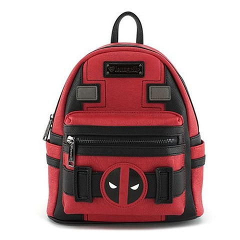 Loungefly X Marvel Deadpool Suit Mini Backpack Red/Black