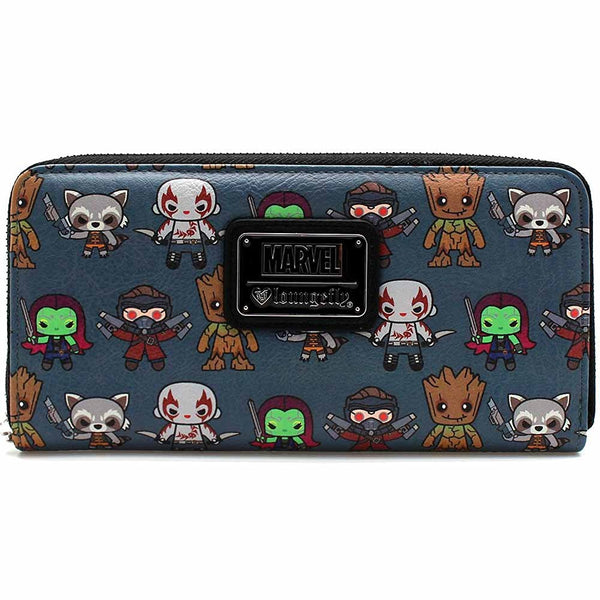 Loungefly X Marvel Guardians of the Galaxy Kawaii Zip Around Wallet