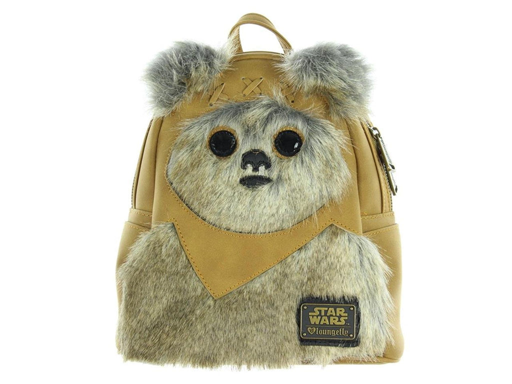 fa2d74d2f35 Loungefly x Star Wars Mini Faux Suede Ewok Backpack