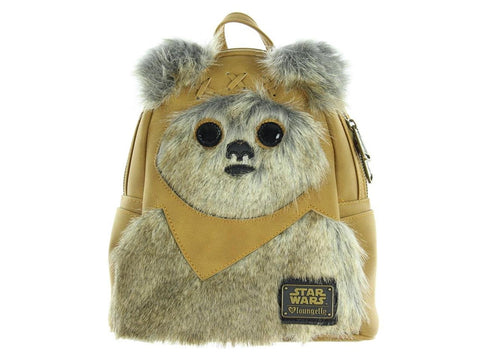 Loungefly x Star Wars Mini Faux Suede Ewok Backpack