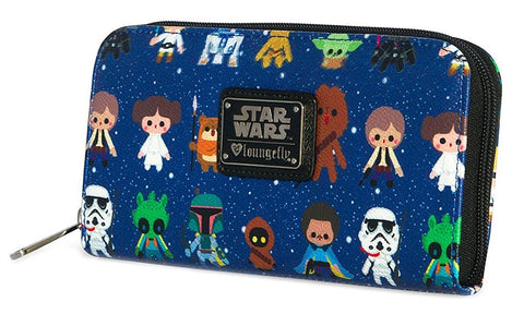 Loungefly Star Wars Baby All Over Print Zip Around Wallet