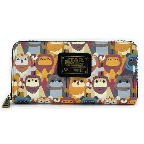 Loungefly X Star Wars Ewok Zip Around Wallet