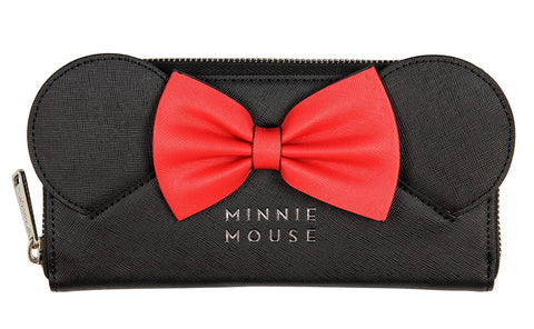 Loungefly x Disney Minnie Ears Bow Zip Around Wallet