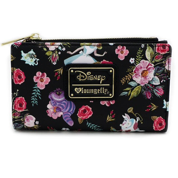 Loungefly x Alice Character Floral Print Wallet