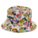 Nickelodeon Bucket Hat All Over Print 90s Cartoon Hat