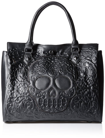 Loungefly Lattice Skull Tote Shoulder Bag