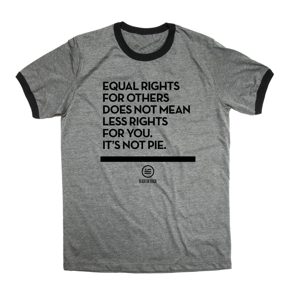 """Not Pie""© - Unisex Ringer T"