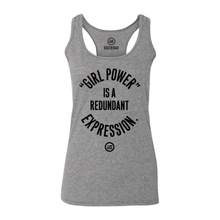 "Load image into Gallery viewer, ""GRL PWR"" -Semi-Fitted Racerback Tank - Graphite Heather"