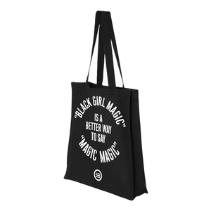 """Magic Magic"" Gusseted Canvas Shopper - Black"