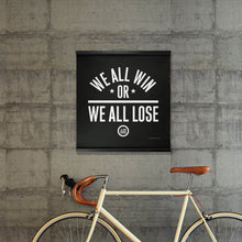 "Load image into Gallery viewer, ""We All Win"" Hanging Canvas Print - Black"
