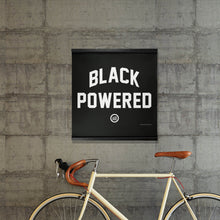 "Load image into Gallery viewer, ""Energy I Be On aka Black Powered"" Hanging Canvas Print - Black"