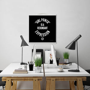 """GRL PWR"" Hanging Canvas Print - Black"