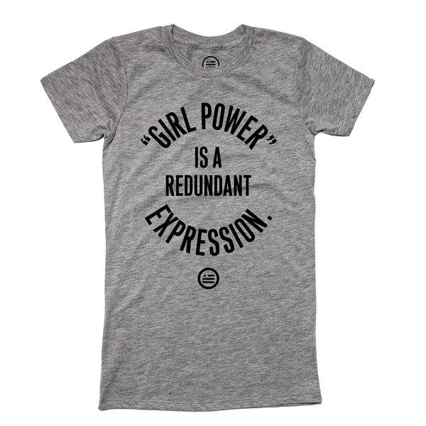 """GRL PWR"" - Slim Fit T Deep Heather"