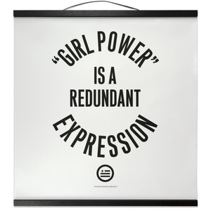 """GRL PWR"" Hanging Canvas Print - White"